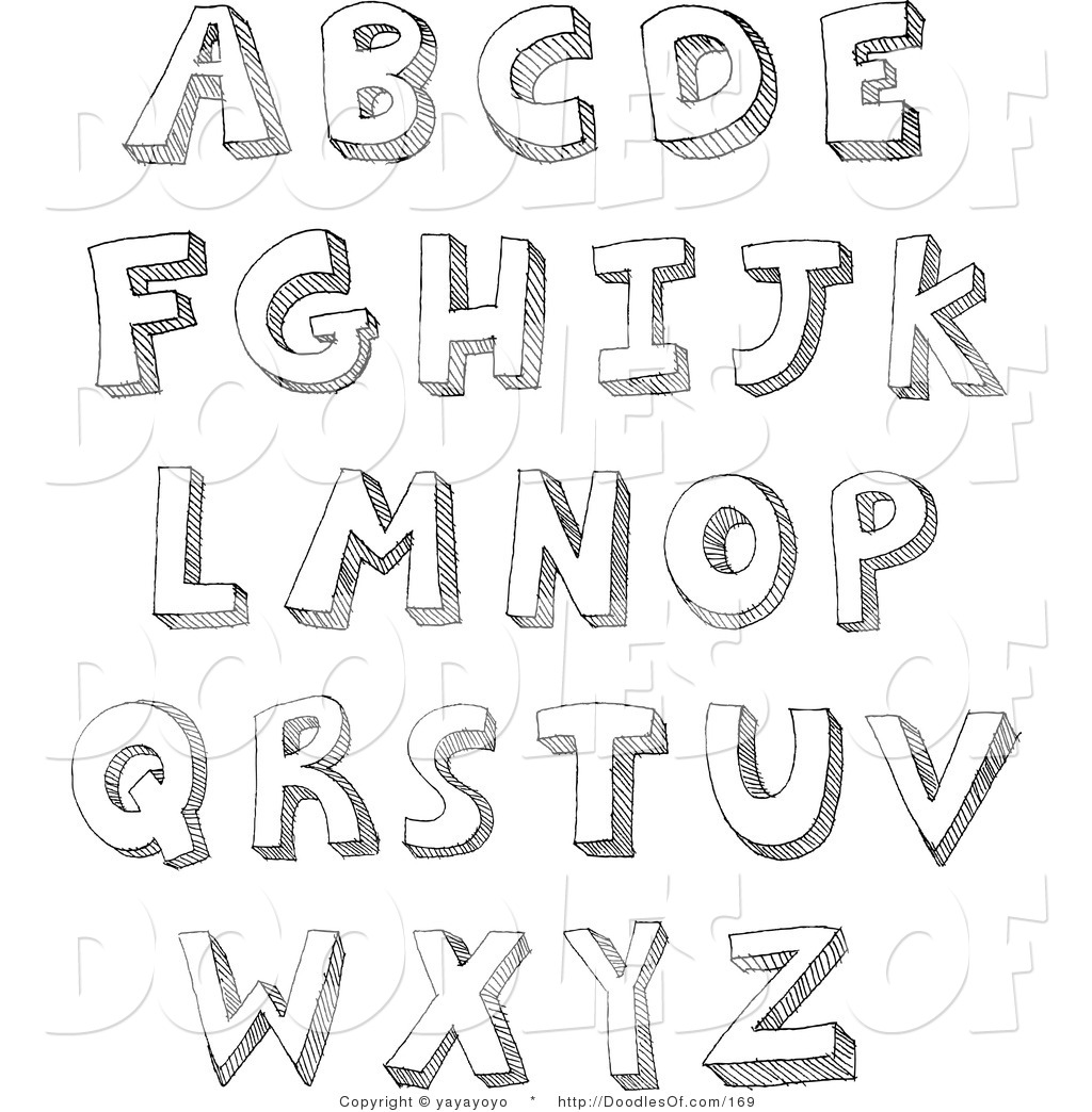 Royalty Free Letter Stock Doodle Designs