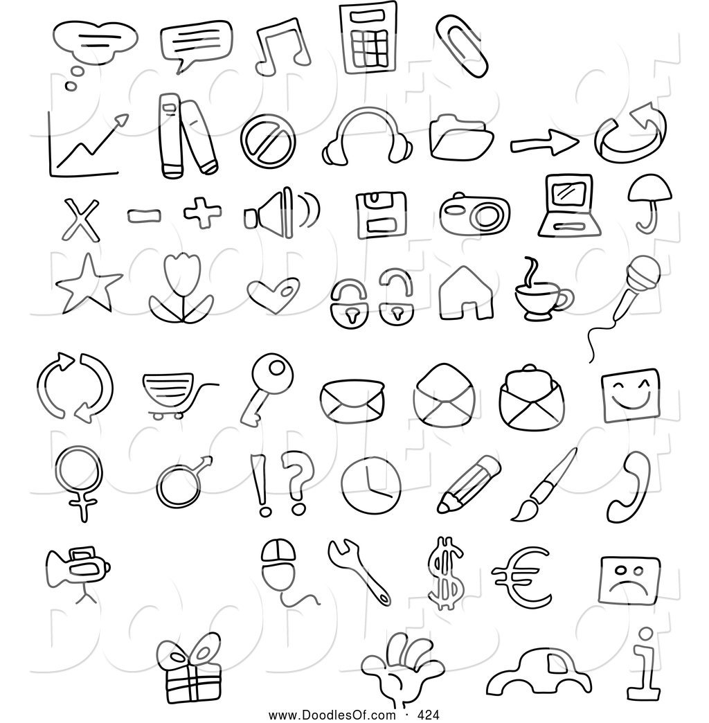 vector clipart of a digital collage of black and white coloring