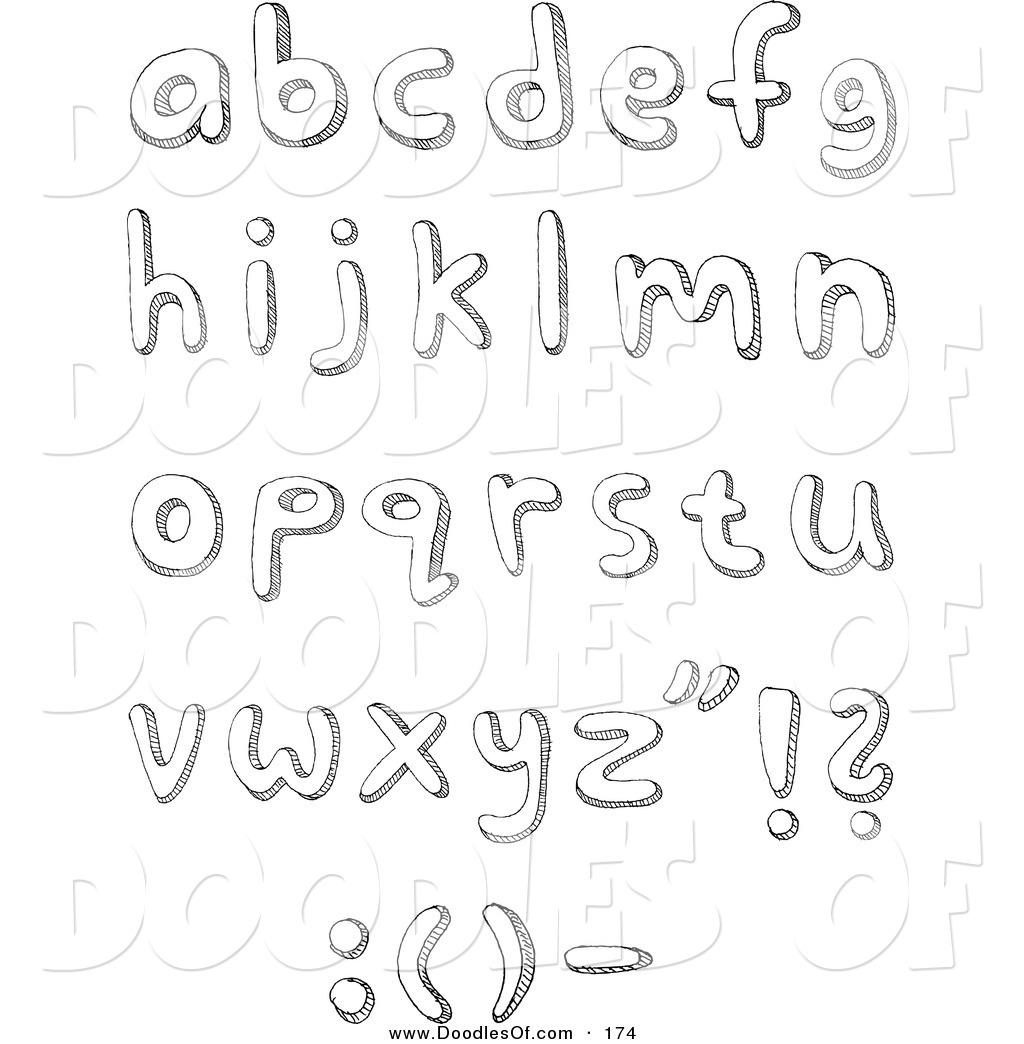 Doodle Letters Coloring Pages