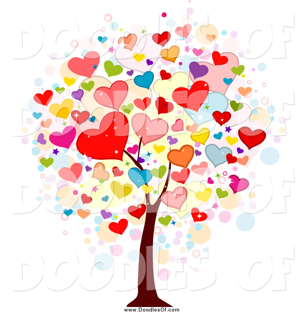 royalty free stock doodle designs of valentines