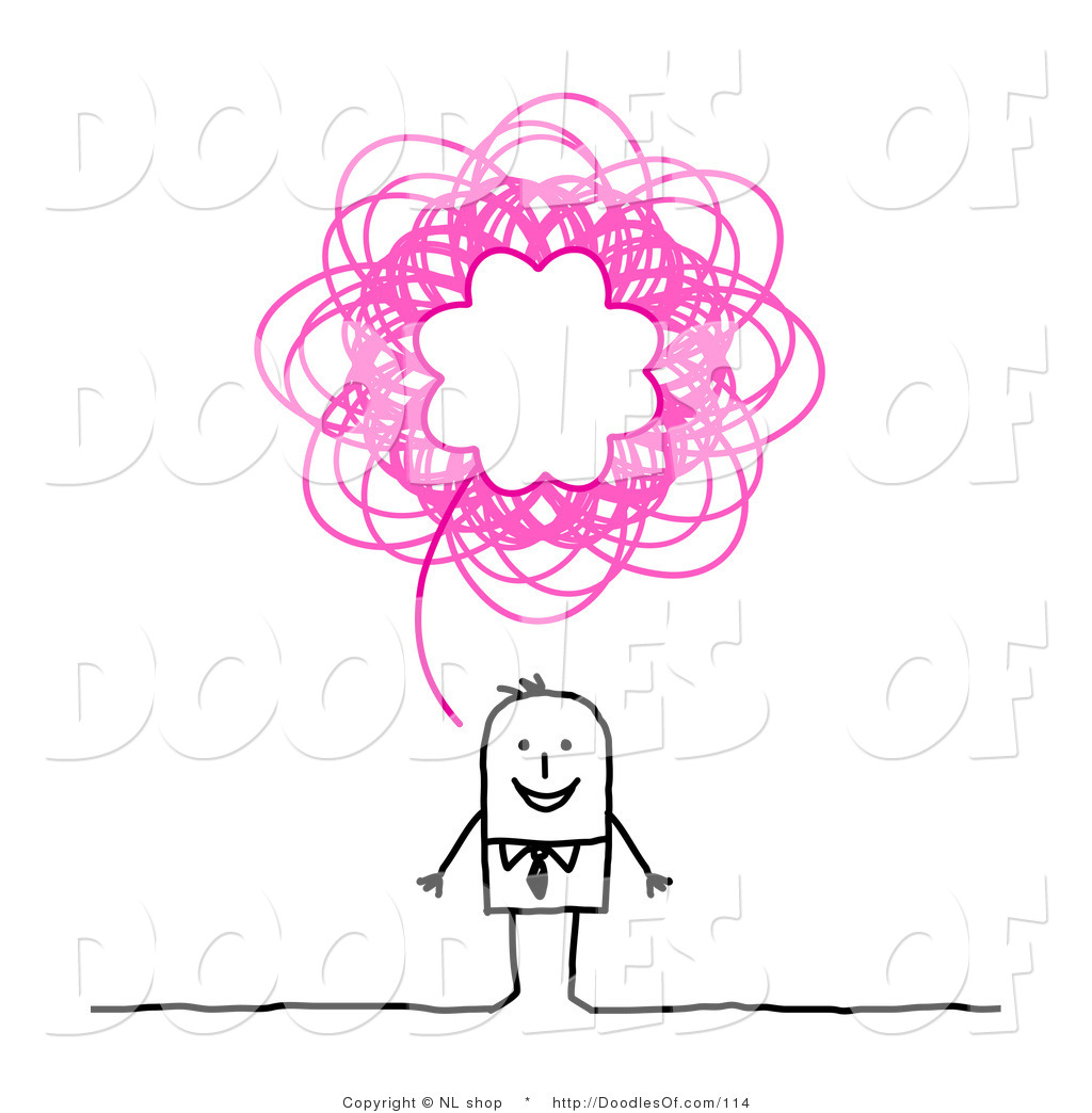Stick Figure Thinking Clipart Vector clipart of a stick
