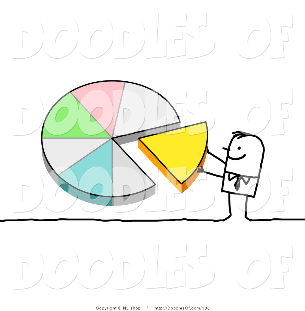 Vector clipart of a stick figure person man pushing a piece of a vector clipart of a stick figure person man pushing a piece of a pie chart into nvjuhfo Gallery