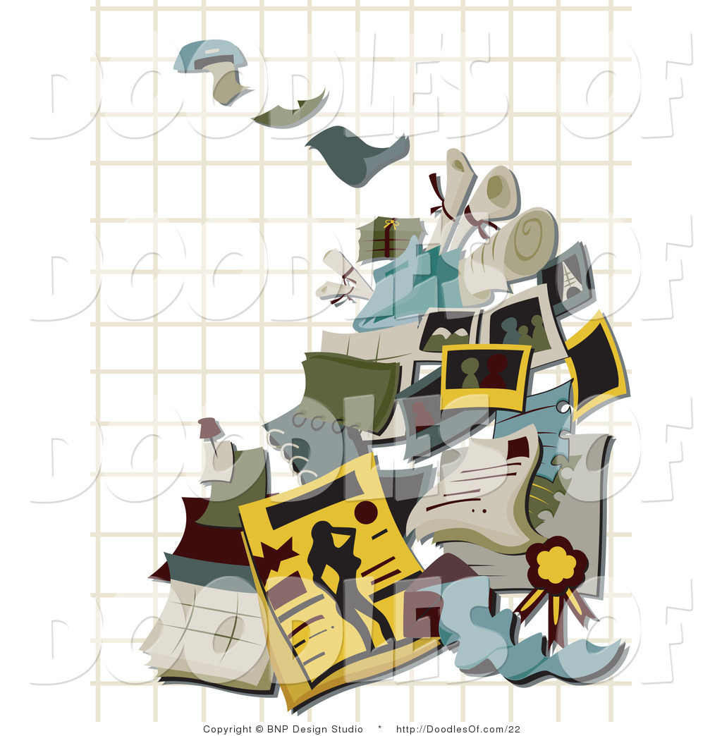Vector Clipart of Printing Doodles over Graph Paper by BNP Design ...