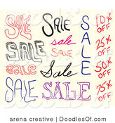Doodle of Sale Doodles by Arena Creative