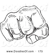 Vector Clipart of a Black and White Fist BumpBlack and White Fist Bump by Yayayoyo