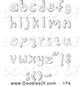 Vector Clipart of a Digital Collage of Lowercase Sketched Alphabet LettersDigital Collage of Lowercase Sketched Alphabet Letters by Yayayoyo
