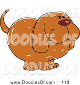 January 29th, 2016: Vector Clipart of a Doodled Happy Hound Dog by Yayayoyo