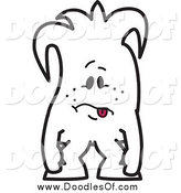 Vector Clipart of a Exhausted Squiggle Doodle Guy by Toons4Biz