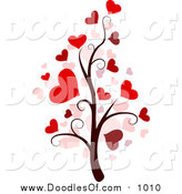 April 18th, 2016: Vector Clipart of a Valentine Doodle Tree by BNP Design Studio