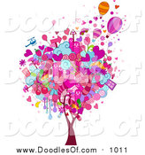 November 7th, 2015: Vector Clipart of a Valentine Doodle Tree by BNP Design Studio