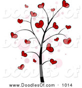 April 2nd, 2016: Vector Clipart of a Valentine Doodle Tree with Hearts by BNP Design Studio
