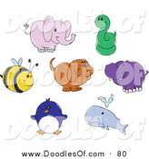 August 25th, 2017: Vector Clipart of Cute Doodled Animals by Yayayoyo