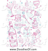 Vector Clipart of Party Doodles by BNP Design Studio