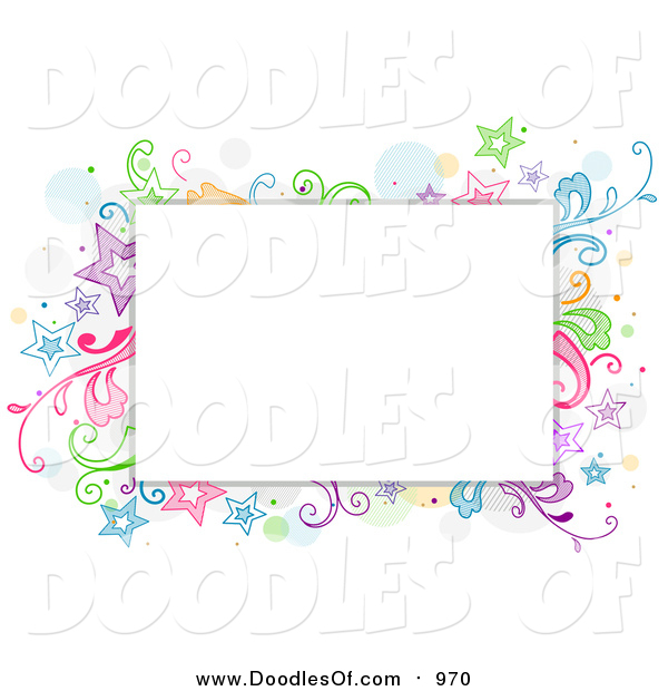 Vector Clipart of a Doodled Star and Vine Design Around Text Space