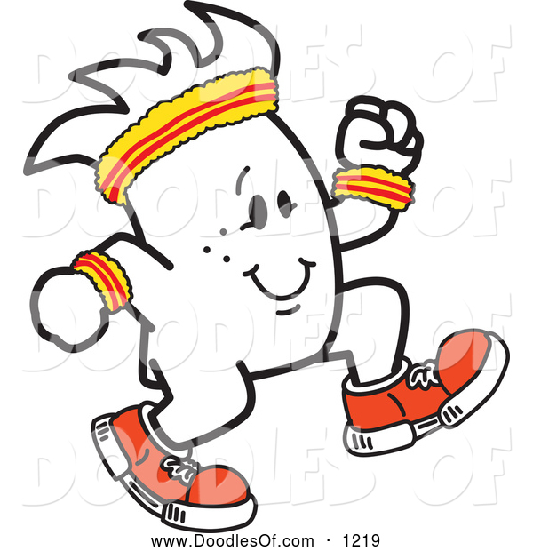 Vector Clipart of a Squiggle Guy Jogger