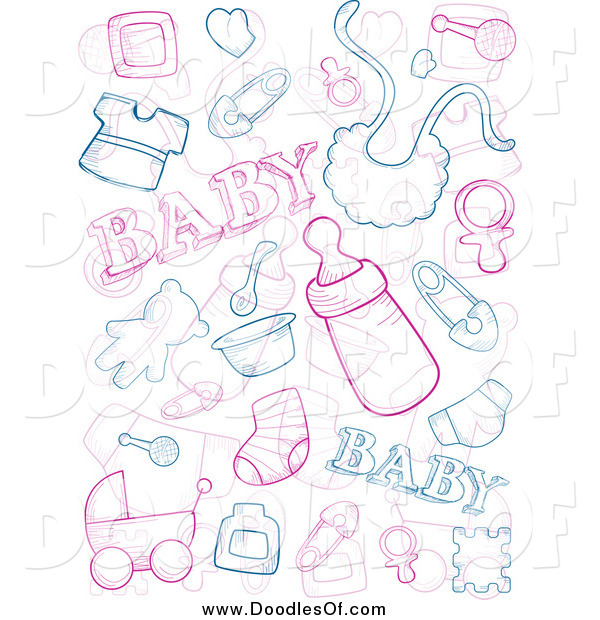 royalty free clipart of baby doodles this baby stock doodle