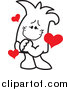 Vector Clipart of a Doodled Infatuated Squiggle Guy by Toons4Biz