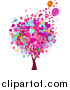Vector Clipart of a Valentine Doodle Tree by BNP Design Studio