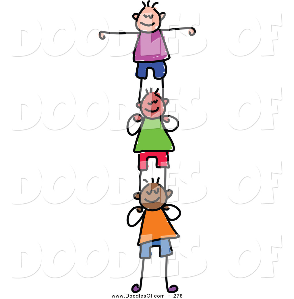 vector clipart of a childs sketch of happy girls supporting each rh doodlesof com microsoft support clip art administrative support clip art